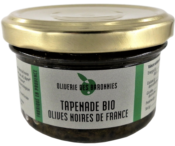Tapenade Bio Olives noires de France
